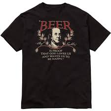 Ben Franklin Beer Quote Delectable TShirt Ben Franklin Beer Quote Black Unisex Sizes S48X Etsy