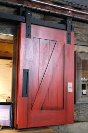 red barn door. Sliding Barn Doors Ecustomfinishes D Z Panel Door Vertical Slat Reclaimed Wood Red