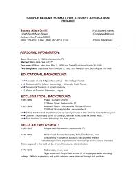Traditional Resume Template Example Of Resume Writing Format With
