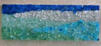 sea glass mosaic by north sea glass mosaic with a few beadineral stones by north sea glass mosaic diy