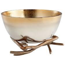 Large Silver Decorative Bowl Gold Large Antler Anchored Bowl Cyan Design Bowls Decorative Bowls 71