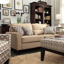 Oxford Creek Contemporary Ridgewood Tan Linen Sofa | Shop Your Way: Online  Shopping & Earn Points on Tools, Appliances, Electronics & more