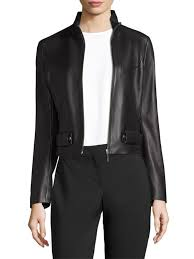 boss sanuvo leather jacket black women s jackets vests faux hugo boss suits quality and quantity assured