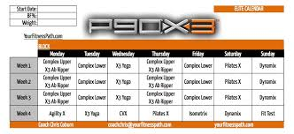 P90x3 Calendar Your Fitness Path