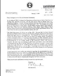 tufts letter of remendation