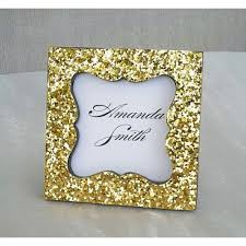 Free Shipping Gold Glitter Place Card Frame Holder J S Favors