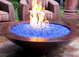 image of fire pit glass outdoor fire bowls