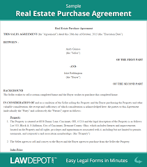 Sample Real Estate Purchase Agreement Free Real Estate Purchase Agreement Form US LawDepot 1