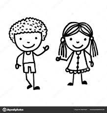 Vettore Biancamano Bambini Disegnati Prioritг Bassa Bianca Mano