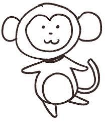 猿のイラスト申年干支 ゆるかわいい無料イラスト素材集