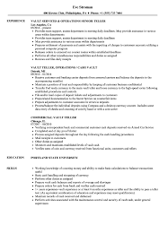 Resume For Teller Position Vault Teller Resume Samples Velvet Jobs