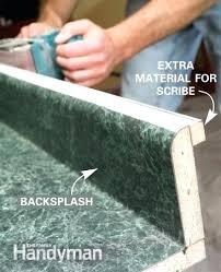 cutting laminate countertop cutting laminate countertop with backsplash