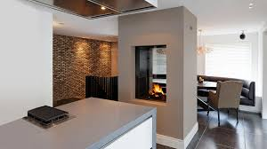image of double sided fireplace electric picture