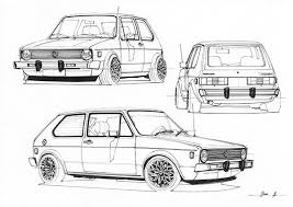 Just Some Sketches That I Make Drawing Car Design Sketch Golf