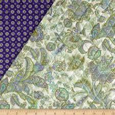 Riley Blake Double Sided Quilted Medium Chevron Grey from ... & Briarcliff Double Sided Quilted Paisley Floral Cream from @fabricdotcom  Designed by Paintbrush Studio Design for Adamdwight.com