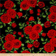 Rose Pattern Fabric