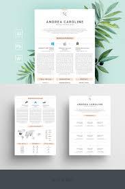 Andrea Caroline Infographic Resume Template 68690