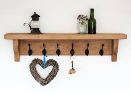 Black Wood Coat Rack Furniture Brown Wooden Coat Racks With Shelf And Six Black Metal 85