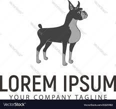 Black Dog Design Company Stand Dog Logo Pet Dog Logo Logo Design Concept