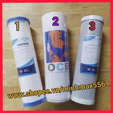 RẺ VÔ ĐỊNH] Bộ lõi lọc nước số 1-2-3 cho máy lọc RO   Bộ lõi lọc nước RO  giá cạnh tranh