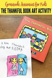graude activities for kids the thankful book art activity