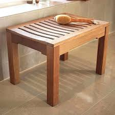 wood shower bench teak care