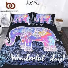 mandala bed set colorful elephant bedding set queen size bohemian duvet cover mandala bed set black