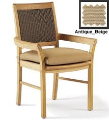 Wholesale Teak Sunbrella Fabric Outdoor Dining Chair Cushion
