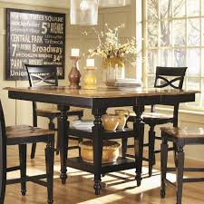 room fascinating counter height table: black round counter height table coaster  counter height table black oak