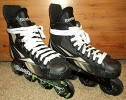 Adult Reebok 3k Fitlite Size 7 Inline Roller Hockey Skates 4 X 80 Mm Alum Frame