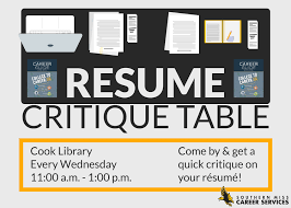 Resume Critique Best Resume Critique Table Dax Smith