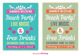 Beach Flyer Retro Beach Party Flyer Download Free Vector Art Stock Graphics