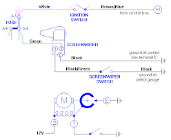 mga fused ignition circuit wipers wiper circuit diagram