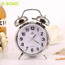 e sonic 2 silver classic black or white twin bell loud ogue alarm clock malaysia