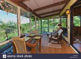 Porch (lanai) of Bed&Breakfast in Hawaii