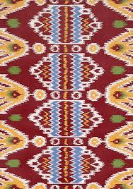 rugsville ikat red wool 17216 69 6x9 rug 17216 69