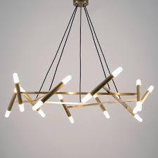 Brass Light Patrick Chandelier 20 Lights Brass