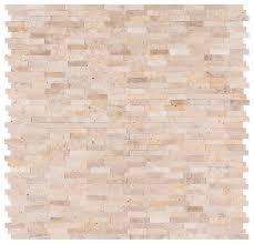 msi roman 12 x 12 travertine l stick mosaic tile reviews wayfair