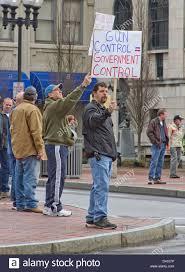 anti gun control sign. Exellent Gun Men Hold Gun Control Protest Signs Up At Passing Cars A Anti  Rally With Anti Gun Control Sign U