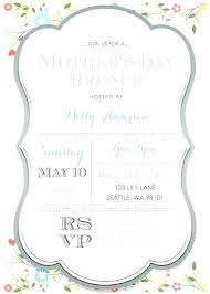 Spring Party Invitation Templates Free Greenfeathers Co