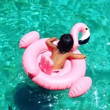 Children Air Mattress Pool Water With Float Inflatable Swan Flamingo
