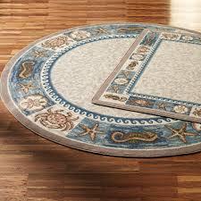 awesome round area rugs for flooring interior decor idea sea life design round area rugs