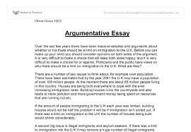 argumentative essay thesis examples types of papers argument argumentative