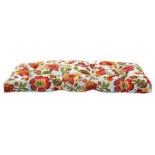 Outdoor Settee Cushion in Telfair Red BedBathandBeyond