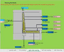 design gravity retaining wall spreadsheet
