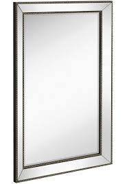 mirror frame. Wonderful Mirror Angled Beveled Mirror Frame With Beaded Accents 24x36 Intended R