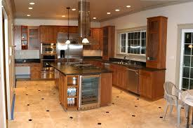 kitchen tile flooring designs ideas gorgeous kitchen tile flooring design with wooden cabinet marble countertop