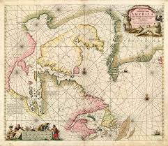 Meric Chart Old Antique Sea Chart Of Arctic North America By J Van