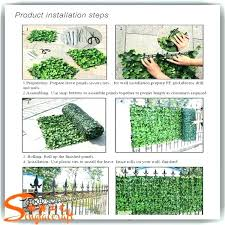 fake ivy wall artificial ivy wall plastic green leaf fence made of as garden faux roll fake ivy wall