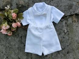 Boy Baptism Outfit Baby Christening Outfit Toddler Boy